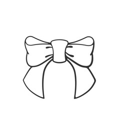 doodle bow-knot ribbon vector image
