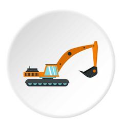 Excavator icon circle vector