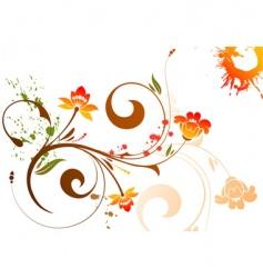 flower background vector image