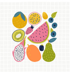 food set for your design vector image