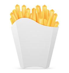french fries in carton pack stock vector image