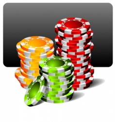 gambling illustration with poker chips vector image