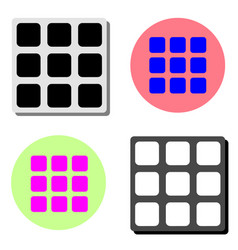 geometric cube flat icon vector image