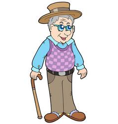 Grandpa with hat vector