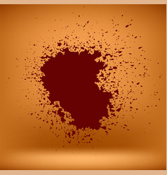 grunge red blood blob vector image