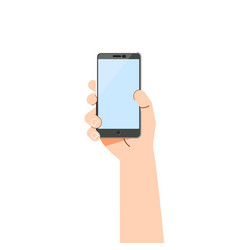 hand phone - concept flat design vector image