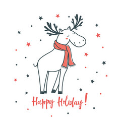 happy holiday cartoon with vector image