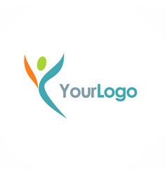 Happy man letter y logo vector