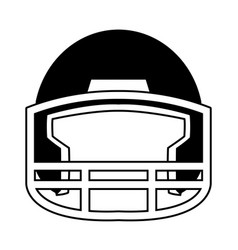 helmet football equipment sport image vector image