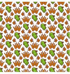 Hop and wreath pattern design beer harvest vector