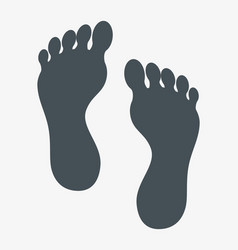 Human footprint isolated icon vector