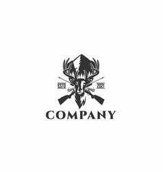 hunting logo vector image