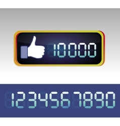 Like counter for social media page vector