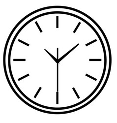 line icon wall clock face vector image
