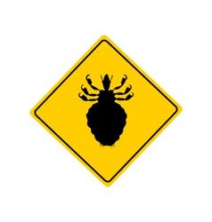 Louse warning sign vector