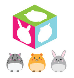 Matching children educational game match animal vector