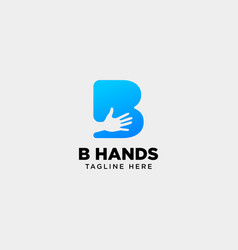 Minimal b letter initial hand logo template icon vector