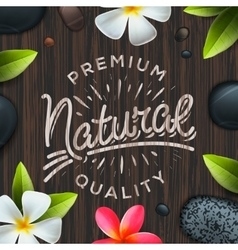 Natural premium quality label spa concept vector
