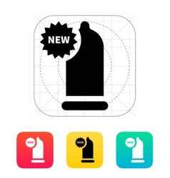 New Condom icon vector