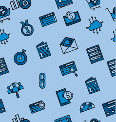 Online market icon pattern vector