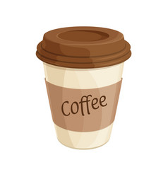 paper coffee cup flat vector image