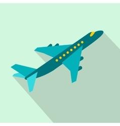 Passenger airplane flat icon vector