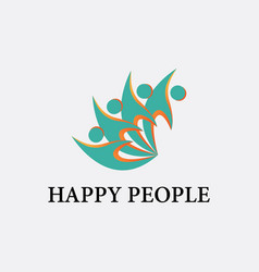 people business logoconnecting peoplehappy people vector image