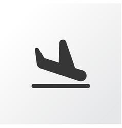 Plane landing icon symbol premium quality vector