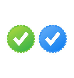 Profile verification approved icon accept badge vector