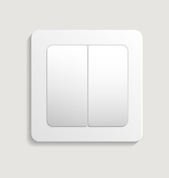Realistic light switch icon vector