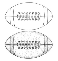 Rugball sketch vector