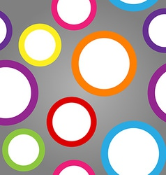 Seamless pattern of white circles with colorful vector