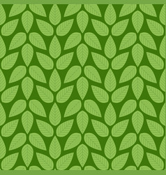 seamless stylized green leaf pattern vector image