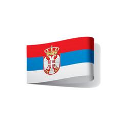 serbia flag vector image