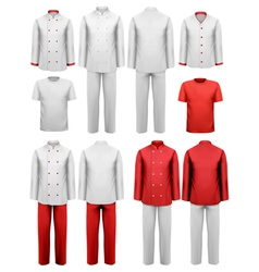 Set of various work clothes vector