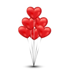 Shiny heart balloons background vector image