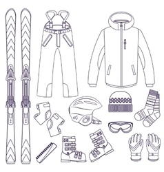 Skiing Extreme winter sports vector image