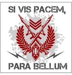 Soldier of Fortune - emblem vector image