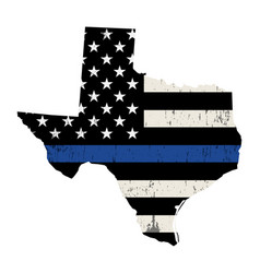 State texas police support flag vector