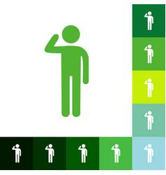 Stick figure human silhouette vector