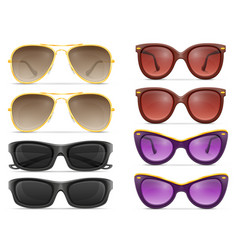 sunglasses for men and women stock vector image