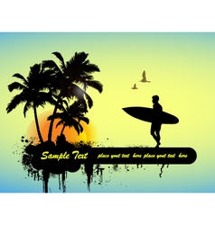 surfing poster vector image