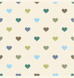 Tile pattern with hearts on pastel background vector