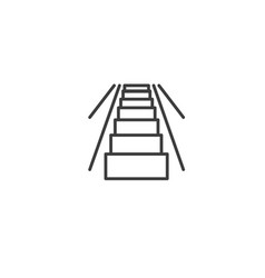urban and city element icon - escalator in trendy vector image