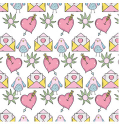 valentines day pattern background vector image