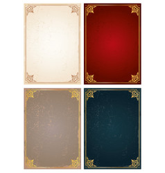 Vertical frames and borders set decorative vector