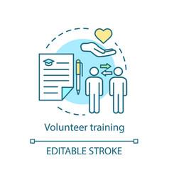 Volunteer training concept icon skills based vector