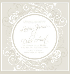 Wedding invitation or announcement card vector
