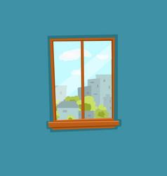 Window and door cartoon colorful vector