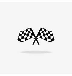 Flag icon Checkered or racing flags vector image